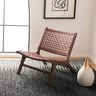Safavieh Luna Accent Chair, Dark Brown, rollover