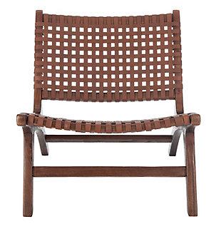 Safavieh Luna Accent Chair, Dark Brown, large
