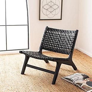 Safavieh Luna Accent Chair, Black, rollover
