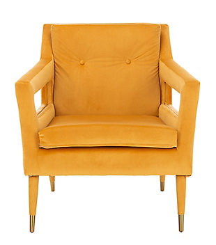 Safavieh Mara Upholstered Accent Chair, Marigold, large