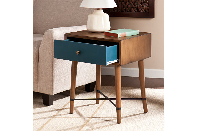 SEI Norwich Accent Table by Ashley HomeStore, Blue & Brown