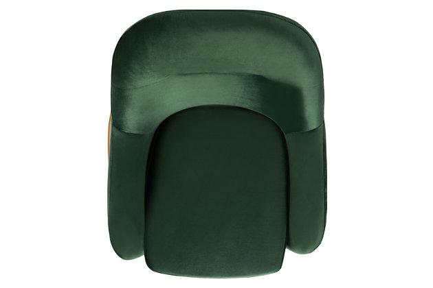 Safavieh Eleazer Velvet Accent Chair, Malachite Green, large