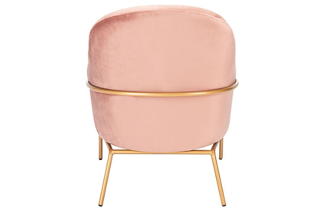 Safavieh Eleazer Velvet Accent Chair, Dusty Rose, large