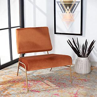 Safavieh Romilly Velvet Accent Chair, Sienna, rollover