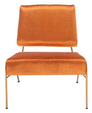 Safavieh Romilly Velvet Accent Chair, Sienna, large