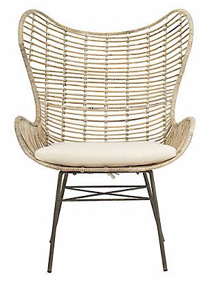 Safavieh Malia Rattan Wingback Armchair, , large