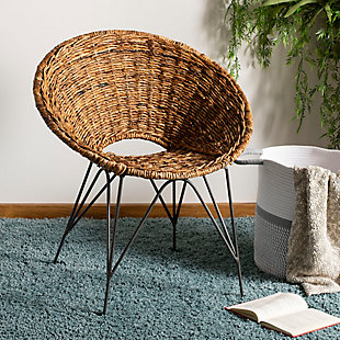 Safavieh Sierra Rattan Accent Chair, , rollover