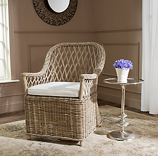Safavieh Maluku Arm Chair, , rollover