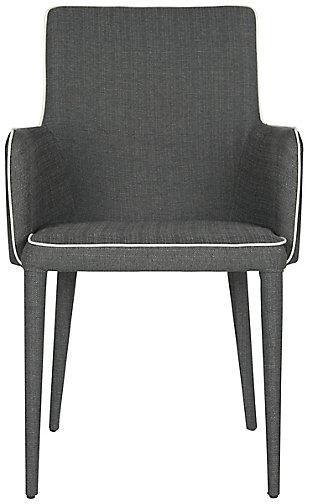 Safavieh Summerset Arm Chair, Gray/White, rollover