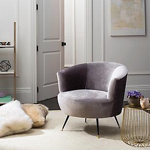 Safavieh Arlette Accent Chair, Gray, rollover