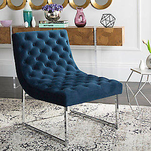 Safavieh Hadley Accent Chair, Navy, rollover