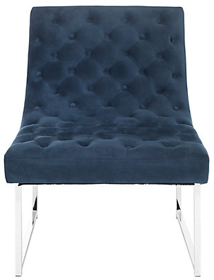 Safavieh Hadley Accent Chair, Navy, large