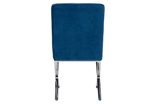 Safavieh Walsh Tufted Side Chair, Navy, large