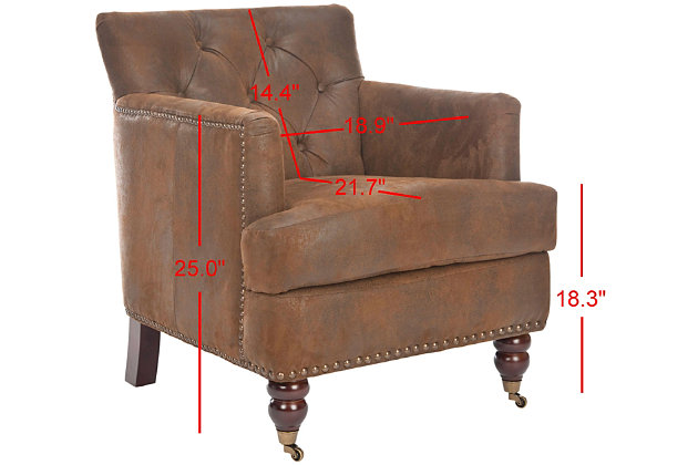 Safavieh Colin Chair, Brown, large