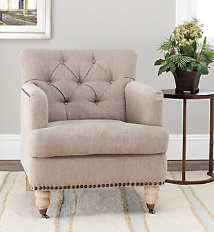 Safavieh Colin Chair, Taupe, rollover