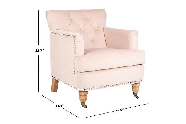 Safavieh Colin Chair, Blush Pink, large