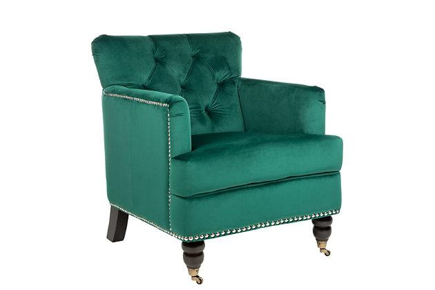 Safavieh Colin Chair, Emerald, large