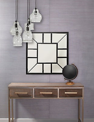 Home Accents Metal Square Mirror, , large