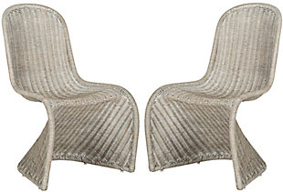 Safavieh Tana Wicker Side Chair (Set of 2), Antique Gray, large