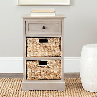 Safavieh Carrie Side Table, Vintage Gray, rollover