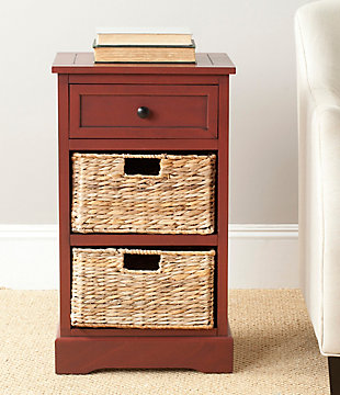 Safavieh Carrie Side Table, Red, rollover