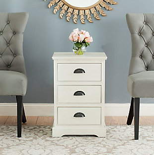 Safavieh Griffin 3 Drawer Side Table, , rollover