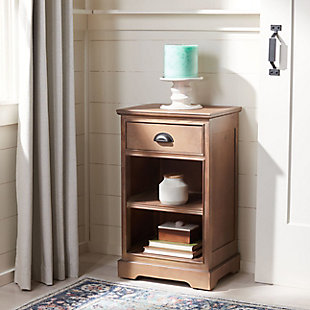 Safavieh Griffin Side Table, Washed Natural Pine, rollover