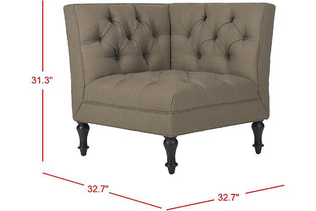 Safavieh Jack Corner Chair, Olive, large
