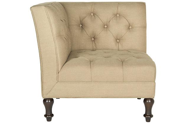 Safavieh Jack Corner Chair, Antique Gold, large