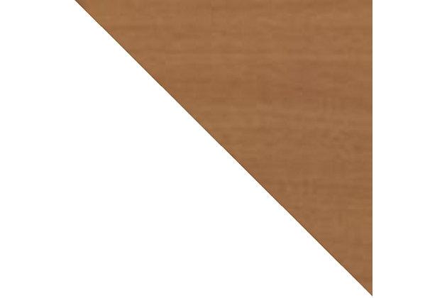 Hampton Accent Cabinet, Off White/Maple, large