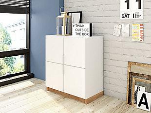 Cornelia Accent Cabinet, White/Nature, rollover