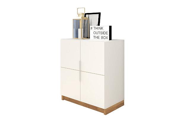 Cornelia Accent Cabinet, White/Nature, large