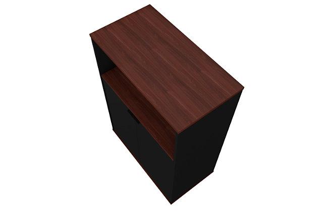 Mosholu Accent Cabinet, Black/Nut Brown, large