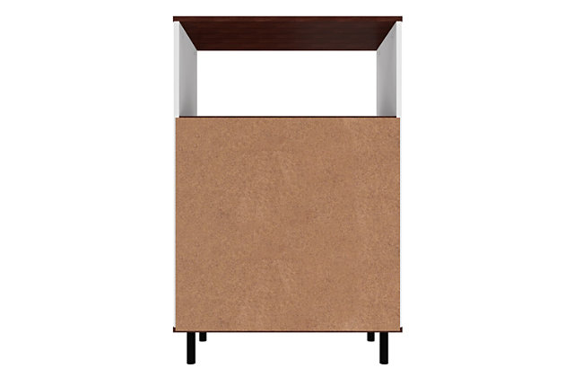 Mosholu Accent Cabinet, White/Nut Brown, large