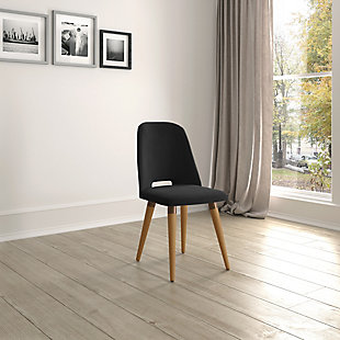 Selina Accent Chair, Black, rollover