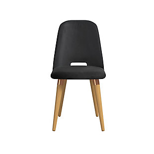 Selina Accent Chair, Black, large