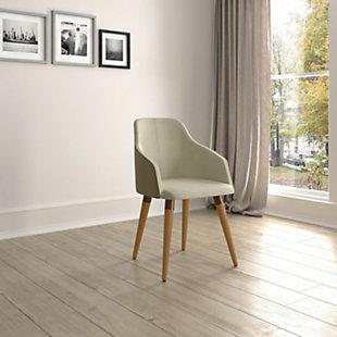 Martha Accent Chair, Beige, rollover