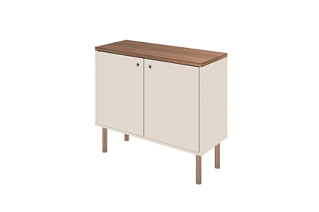 Windsor Accent Cabinet, White/Nature, large