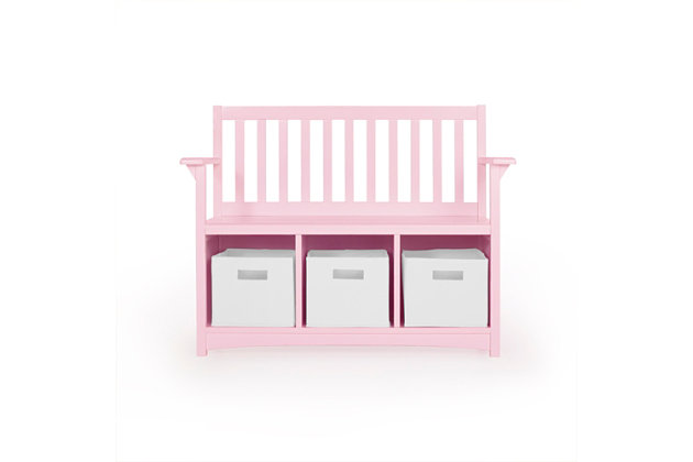 Classic Storage Bench with Bins, , large