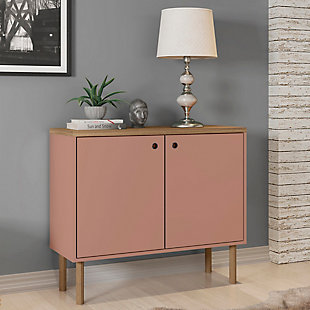 Windsor Accent Cabinet, Pink/Nature, rollover