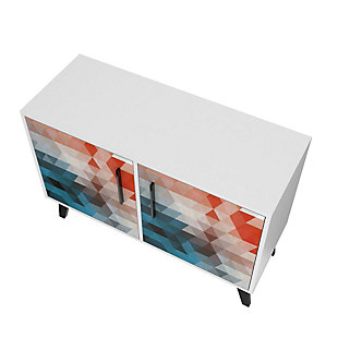 Amsterdam Accent Cabinet, Red/Blue, large