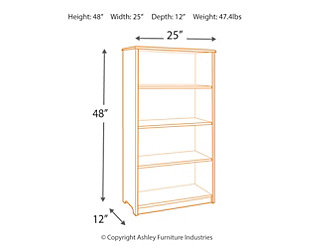 "Classic 48"" Bookshelf - Gray, , large"