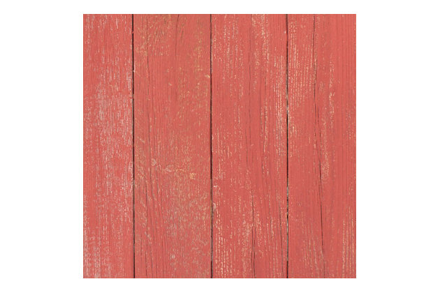 Rustic Farmhouse 24 in. Rustic Red Wood Egg, Rustic Red, large