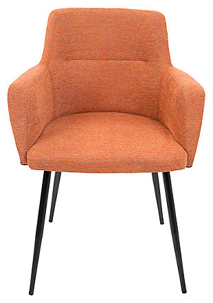Andrew Chair (Set of 2), Orange, large