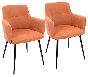 Andrew Chair (Set of 2), Orange, rollover