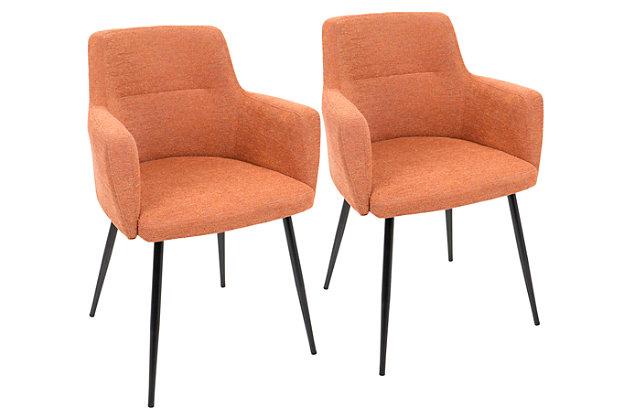 Andrew Chair (Set of 2), Orange, large