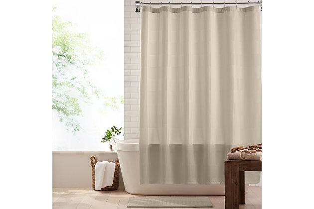"""Josie Accessories, Inc. Modern Fabric Shower Curtain, 72""""x72"""", Beige, Beige, large"""
