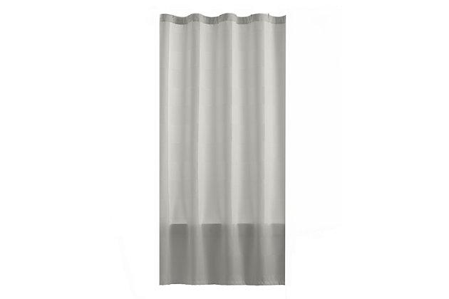 "Josie Accessories, Inc. Modern Fabric Shower Curtain, 72""x72"", Gray, Gray, large"