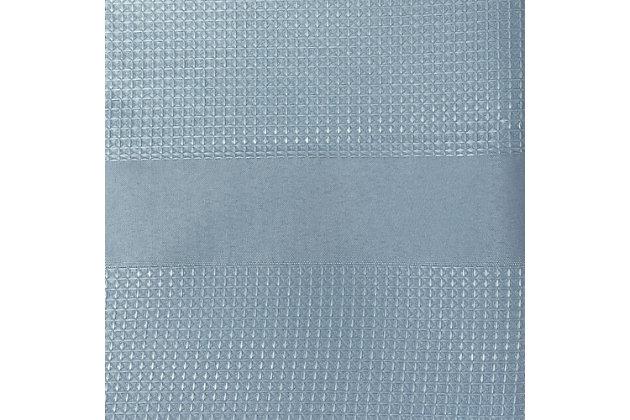 "Josie Accessories, Inc. Modern Fabric Shower Curtain, 72""x72"", Spa Blue, Spa Blue, large"
