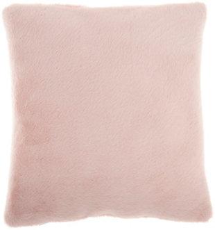 "Nourison Mina Victory Oversize Faux Fur 20"" x 20"" Throw Pillow, Blush, large"